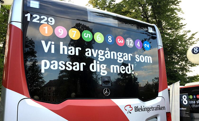 Blekingetrafiken kampanj Ny trafik