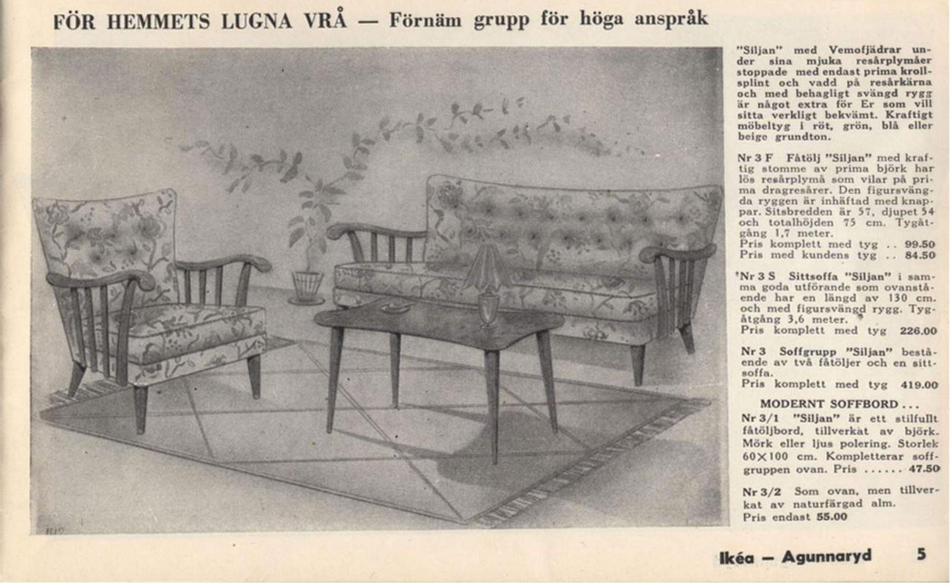 Ikea-katalog från 1951