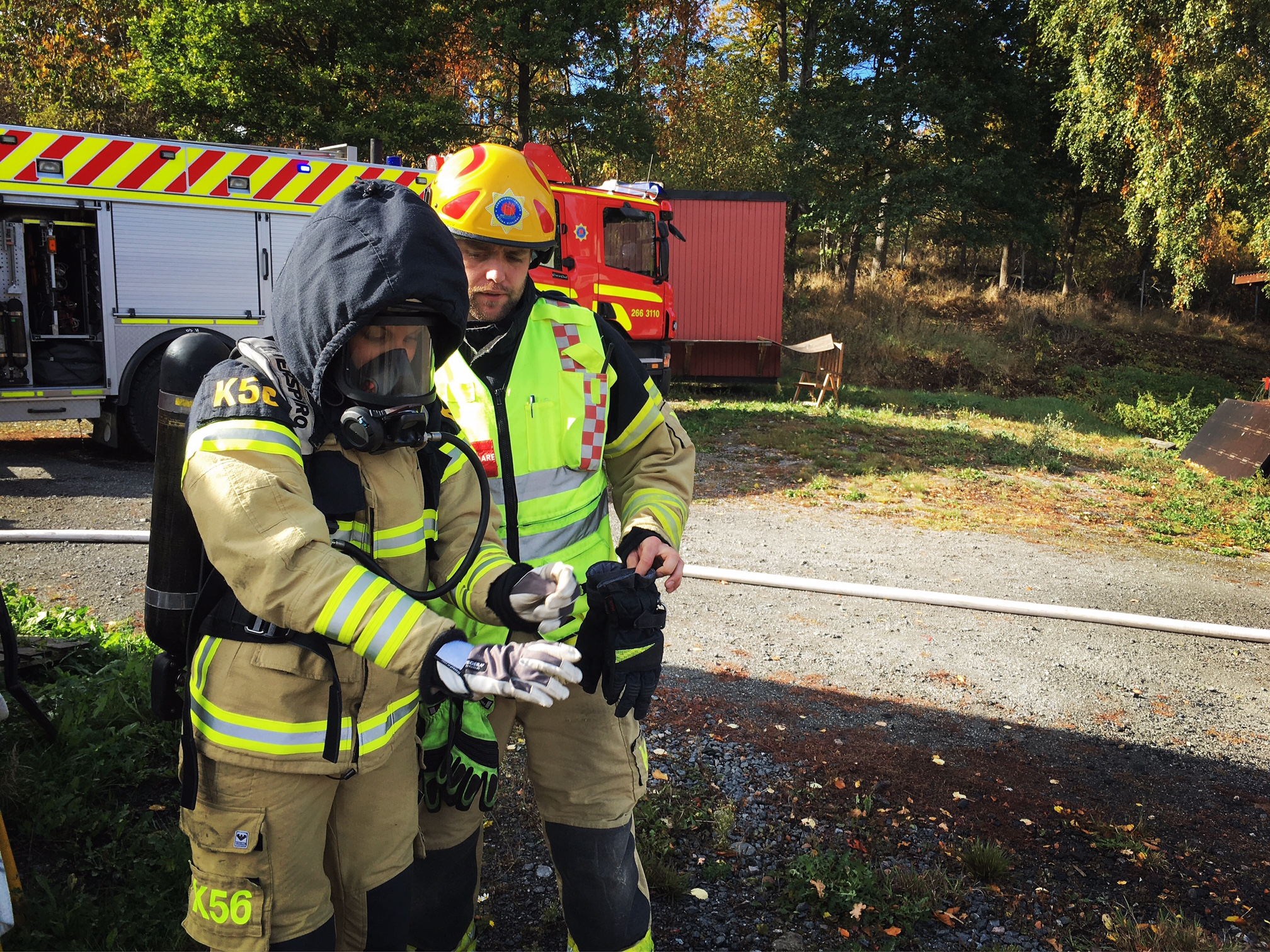 Film till Räddningstjänsten Västra Blekinge - behind the scenes