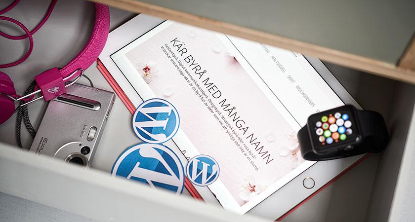 Wordpress, digital plattform, byrålåda, i reklambyrålådan, Happiend Reklambyrå.